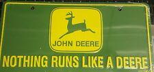 John Deere nothing runs like a Deere dear tag license plate