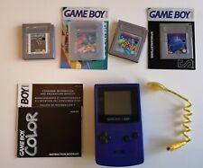Nintendo Game Boy Color Handheld-Spielekonsole - Lila - guter Zustand