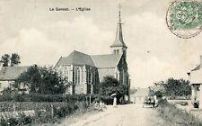 Carte LE GENEST SAINT ISLE L'église Marrant les 3 garçons avec chapeau en main
