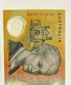 AUSTRALIA 2018 $50.00 REPEATER SERIAL , GREAT NUMBERS  **116116 UNCIRCULATED