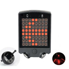 New 64 LED Laser Bicycle Rear Tail Light Bike Turn Signals With Wireless Remote