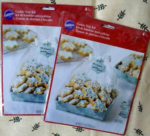 Wilton Snowflake Cookie Christmas Tray Kits Set Of 2 Pkgs Sealed 8 Trays total