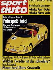 sport auto 2/88 1988 BMW 535i Sierra Cosworth Kissling Kadett GSi Treser TR1 944