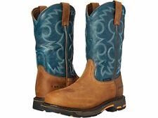 Ariat Women's Workhog H2O Work Boots, Aged Bark/Topaz - New - Choice of Size