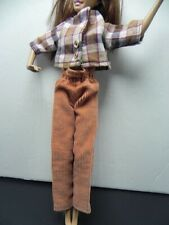 Vintage Doll Clothes Tan Brown Pants 1959 Usa Will fit Barbie Usa Seller