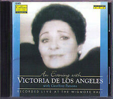 Victoria de Los ANGELES An Evening in WIGMARE HALL CD Scarlatti Pergolesi Brahms