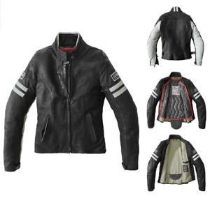 SPIDI Vintage CE Certified Motorcycle Bike Lady Leather Jacket Black White