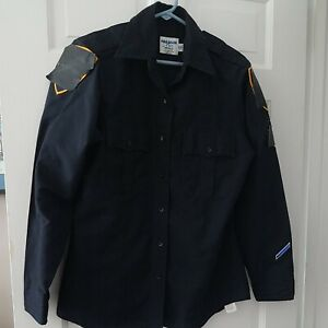 GENTLY USED Police/Security Uniform WOMAN'S 38 L/S, Navy