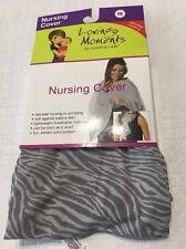 NEW LOVING MOMENTS Nursing cover breathable discrect nursing Zebra Print