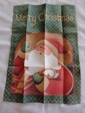 TOLAND MERRY CHRISTMAS SANTA Garden FLAG 12.5 x 18 NEW