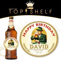 Personalised Birra Moretti lager bottle label any name any occasion