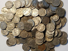 (40) $.05 1913-1938 Buffalo Nickel Full 4 Digit Date Roll Lot Mostly 20's & 30's