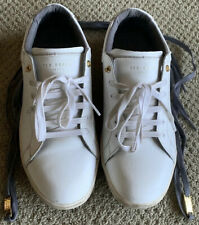 Ted Baker Theeyo Leather Sneakers - White - Us Size: 9