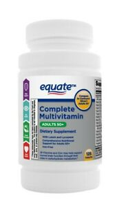 Equate Complete Multivitamin Adults 50+ 125 TABLETS EXP:07/22 SAME-DAY FREE SHIP