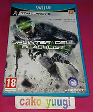 SPLINTER CELL BLACKLIST NINTENDO WII U VERSION 100% FRANCAISE TRES BON ETAT