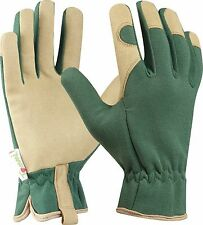 Tommi Garden Gloves Walnut, size 10, Dark Green, Synthetic leather-glove