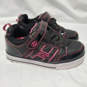 Heelys X2 Bolt Youth Sz 2 Black Pink Style #770018 Lights Up Skate Shoes