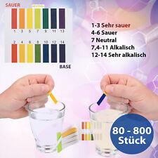 pH Wert Test Teststreifen Wassertest Streifen für Aquarium Pool Teich Wasser