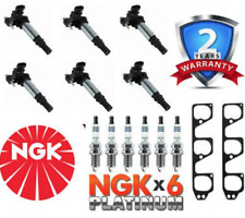NGK Spark Plugs and Aftermarket Ignition Coils Kit For Holden Commodore VZ V6