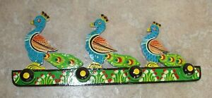 PAINTED WOODEN PHEASANT HOOKS - T2