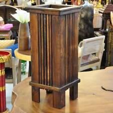 Umbrella Stand Solid Wood Braun neutral Geschäftsausstattung Stand Wood Design