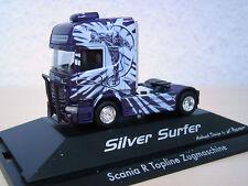 """Herpa-Scania r`09 TL Solo-Trattore """"SILVER SURFER"""" - PC-modello 110754 -1:87"""
