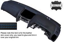 BLUE STITCH DASH DASHBOARD SKIN COVER FITS NISSAN SKYLINE R34 GTR GT-T 98-02