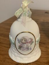 Enesco Precious Moments 749044 The Future Is In Our Hands Girl w/Lamb 2000 Bell