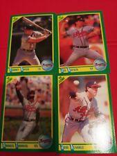 1990 Score Atlanta Braves 4 card lot