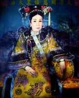 """oil painting """" the Chinese Dowager Empress Cixi (1835-1908) of Qing Dynasty"""""""