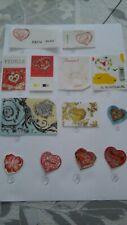 Différents timbres cœur st valentin