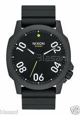 Nixon Original Ranger 45 Sport A957-001 All Black Silicone 45mm Watch