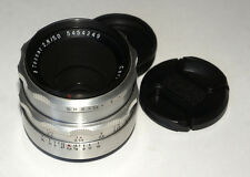 Silver Carl Zeiss Jena Tessar lens 2.8/50 mm M42 screw mount Canon adaptable