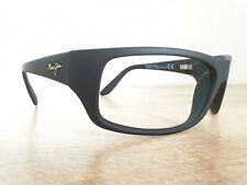 MAUI JIM Peahi STG-BG MJ 202-2M Matte Black Sunglasses Frames w/Case