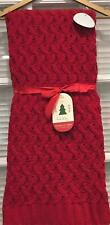 """Nicole Miller Christmas Red Cable Knit Throw 50"""" x 60"""" NWT"""