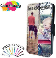Personalised Custom Printed Photo Picture  And Text Flip Wallet Phone Case Cover