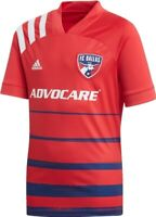 Boys Soccer Jersey 2020 FC Dallas Adidas Home Jersey Large