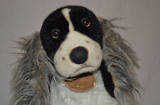 RARE vtg Realistic Lifelike Aurora Cocker Spaniel Stuffed Handcrafted Plush 17""