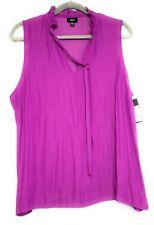 XXL Mossimo Womens Purple Sheer Dressy Sleeveless Top Ruffle Neck New
