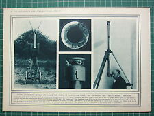 1915 WWI WW1 PRINT ~ OPTICAL INSTRUMENTS HYPOSCOPE PERISCOPE FOR TRENCHES