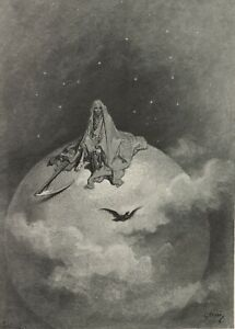 The Raven, illustration 10, 1832, GUSTAVE DORE Edgar Allan Poe Poster