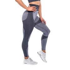 Mujer Cintura alta Fitness Leggings Elásticos Entrenamiento Pantalones De Yoga