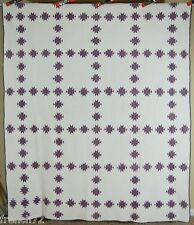 MUSEUM QUALITY PRE CIVIL WAR Vintage Double X 9 Patch Antique Quilt~SMALL PIECES