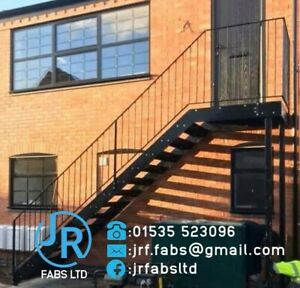 flat pack Steel staircase, metal fire escape,residential all sizes £800+vat