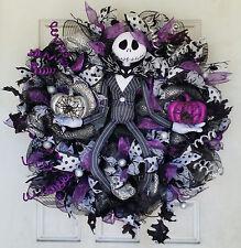 WOW! Purple Jack Skellington Wreath Nightmare Before Christmas NBC Handcrafted