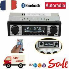 Autoradio 12V 1Din Bluetooth Rétro Lecteur MP3 stéréo de voiture USB AUX SD