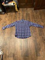 BURBERRY London Blue Nova Check L/S Flannel 100% Cotton Large