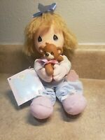 Vintage Precious Moments Doll With Teddy Bear   From Applause