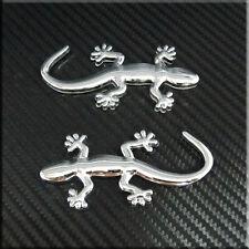 Car  Gecko Gecco(small) Side  Badge Trunk Emblem Sticker  2pcs set