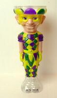 Mardi Gras Jester Tall Plastic HurricaneTumbler 24 ounces
